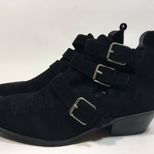 Universal Thread Shoes - Triple Strap Buckle Cut Out Western Bootie Size 11